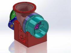 Kaplan Turbine 3D Printed Model 3D Model