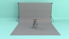 Photo Studio Backdrop 3D Model