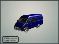 GAZelle 2705 Combi Van 3D Model