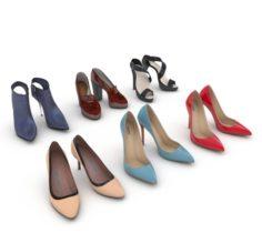 High Heels Women Shoes 3D Model