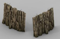 Brutal tribes – mountain wall 02 3D Model