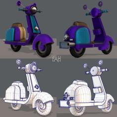 Scooter Cartoon 3D Model