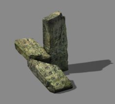 Wu Gorge – broken stone 01 3D Model