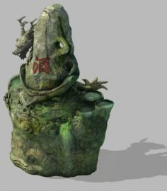 Changan City – landscape stone dragon 11 3D Model