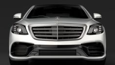 Mercedes AMG S 63 4MATIC W222 2018 3D Model