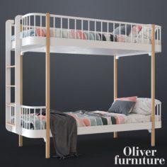 Bunk bed by Oliver furniture 3D Model