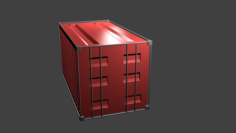 Shipping Container HIGH POLY 3D Model