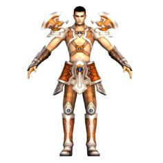 Game 3D Character – Male Warrior 4 3D Model