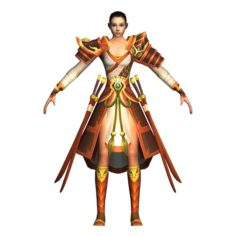 Game 3D Character – Female Warrior 06 3D Model