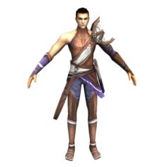 Game 3D Character – Male Archer 02 3D Model
