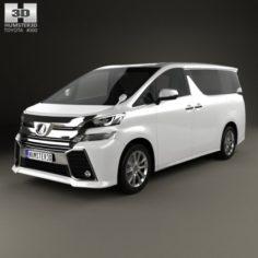 Toyota Vellfire Aero 2015 3D Model