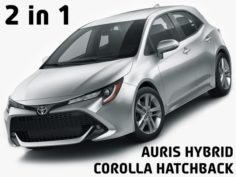 Toyota Corolla Hatchback and Auris 2019 3D Model