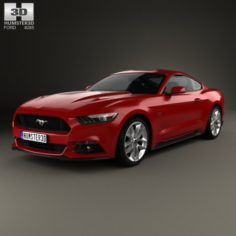 Ford Mustang GT with HQ interior 2015 3D Model