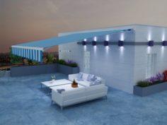 Terrace roof 3D Model