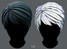 3D Hair style for Man V03 3D Model