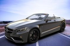 Mercedes Benz S Class Cabriolet 2017 3D Model