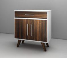 Mid Century Modern Coffee Cabinet 3D Model