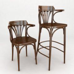 K10 vienna armchair 3D Model