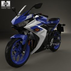 Yamaha YZF-R3 2015 3D Model