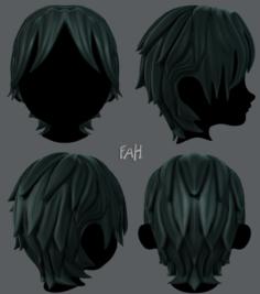 3D Hair style for boy V15 3D Model