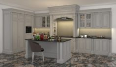 Classic Kitchen Cabinet 2 3D Model