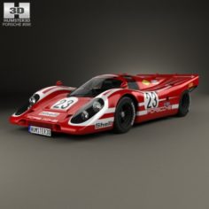 Porsche 917 K Team Salzburg 1970 3D Model