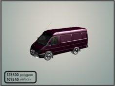 GAZelle 2705 Panel Van 3D Model