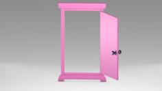 Pink door 3D Model