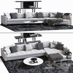Minotti Set 13 for perevalivka                                      3D Model