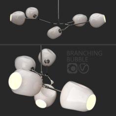 Branching bubble 5 lamps MILK SILVER 3D Model