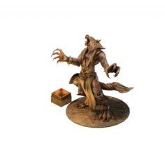 Evil Creator – Werewolf Statue 01 3D Model