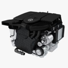 Mercedes Diesel Engine OM654 3D Model