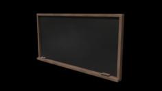 School Classroom Chalkboard Set 3D Model