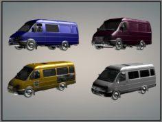GAZelle 2705 Civil Taxi Collection 3D Model