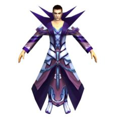Game 3D Character – Male Mage 04 3D Model