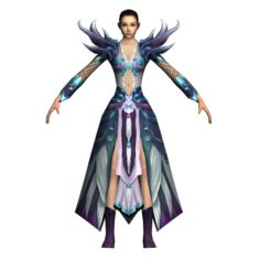 Game 3D Character – Female Mage 06 3D Model