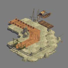 Small – Dock – Dock 03 3D Model