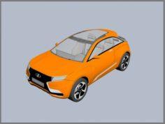 Lada XRay 2014 Concept 3D Model