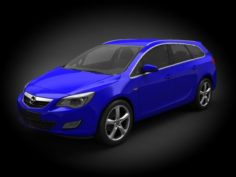 Opel Astra 2012 Touring 3D Model