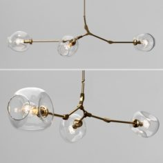 Branching bubble 3 lamps 2 by Lindsey Adelman CLEAR GOLD 3D Model