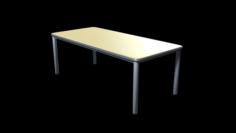 School Classroom Student Desk 3D Model