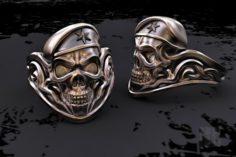 Skull soldier ring 3D Model