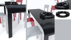 3D Modern Dining Table model 3D Model