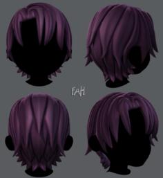 3D Hair style for boy V16 3D Model