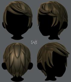 3D Hair style for boy V13 3D Model