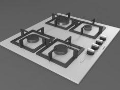 Cooktop 06 3D Model