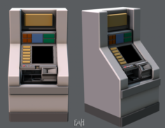 Ticket Cabinet 3D Model