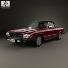 Mercedes-Benz SL-Class R107 US 1974 3D Model