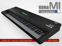 Korg M1 3D Model