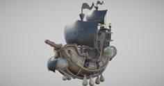 3D Flying Pirate Ship 3D Model